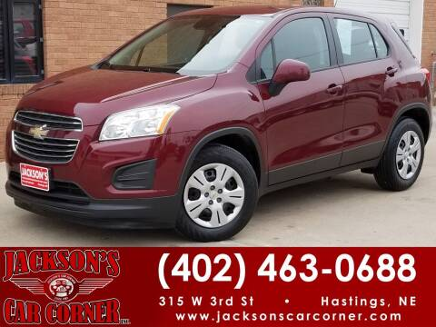 2016 Chevrolet Trax for sale at Jacksons Car Corner Inc in Hastings NE