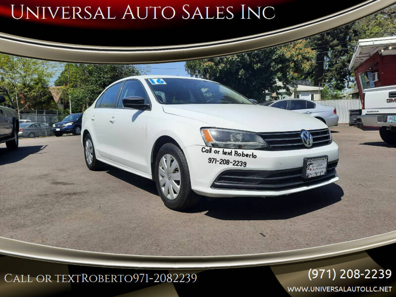 2016 Volkswagen Jetta for sale at Universal Auto Sales Inc in Salem OR