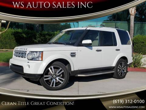 2012 Land Rover LR4 for sale at WS AUTO SALES INC in El Cajon CA