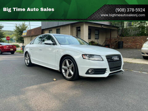 2012 Audi A4 for sale at Big Time Auto Sales in Vauxhall NJ
