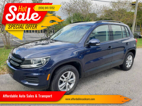2016 Volkswagen Tiguan for sale at Affordable Auto Sales & Transport in Pompano Beach FL
