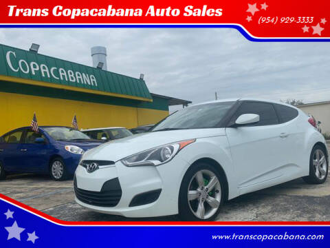 2012 Hyundai Veloster for sale at Trans Copacabana Auto Sales in Hollywood FL