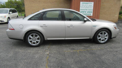 2008 Ford Taurus for sale at LENTZ USED VEHICLES INC in Waldo WI