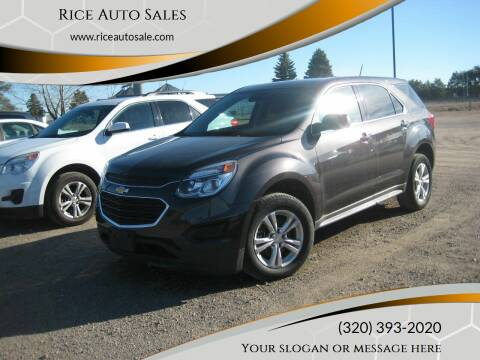 2013 Chevrolet Traverse for sale at Rice Auto Sales in Rice MN