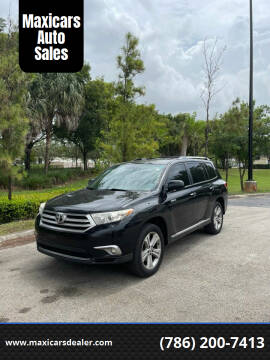 2012 Toyota Highlander for sale at Maxicars Auto Sales in West Park FL