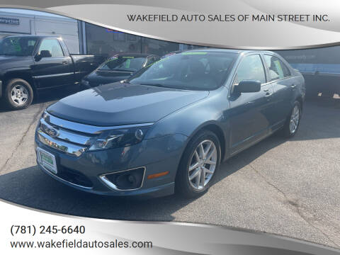 2012 Ford Fusion for sale at Wakefield Auto Sales of Main Street Inc. in Wakefield MA