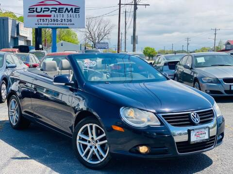 2008 Volkswagen Eos for sale at Supreme Auto Sales in Chesapeake VA