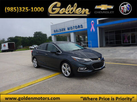 2018 Chevrolet Cruze for sale at GOLDEN MOTORS in Cut Off LA