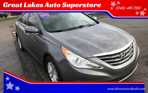 2013 Hyundai Sonata for sale at Great Lakes Auto Superstore in Waterford Township MI
