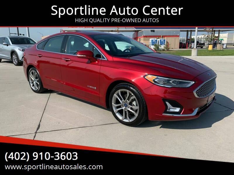 2019 Ford Fusion Hybrid for sale at Sportline Auto Center in Columbus NE