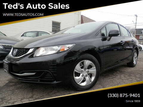 2013 Honda Civic for sale at Ted's Auto Sales in Louisville OH