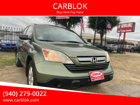 2009 Honda CR-V for sale at CARBLOK in Lewisville TX