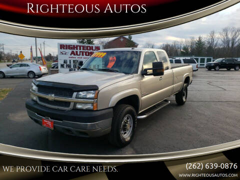 2004 Chevrolet Silverado 2500HD for sale at Righteous Autos in Racine WI