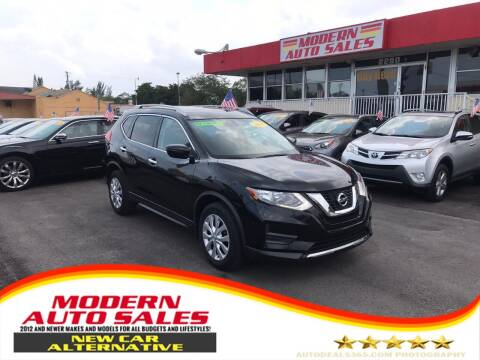2017 Nissan Rogue for sale at Modern Auto Sales in Hollywood FL
