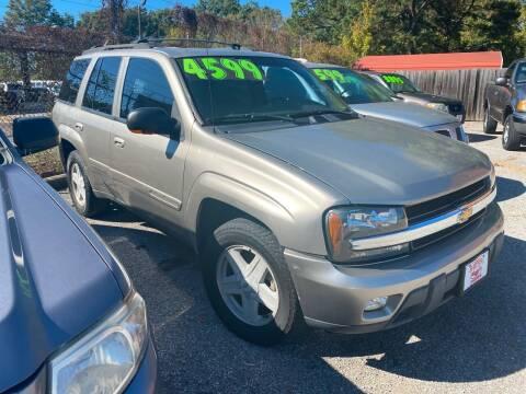 2002 Chevrolet TrailBlazer for sale at Super Wheels-N-Deals in Memphis TN