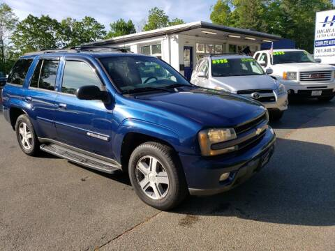 2004 Chevrolet TrailBlazer for sale at Highlands Auto Gallery in Braintree MA