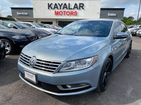 2013 Volkswagen CC for sale at KAYALAR MOTORS in Houston TX