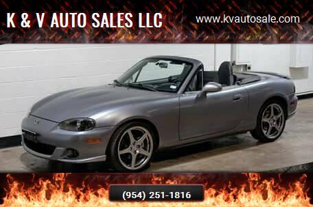 2004 Mazda MAZDASPEED MX-5 for sale at K & V AUTO SALES LLC in Hollywood FL