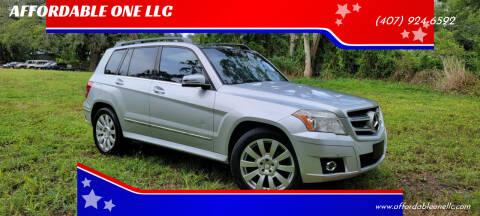 2012 Mercedes-Benz GLK for sale at AFFORDABLE ONE LLC in Orlando FL