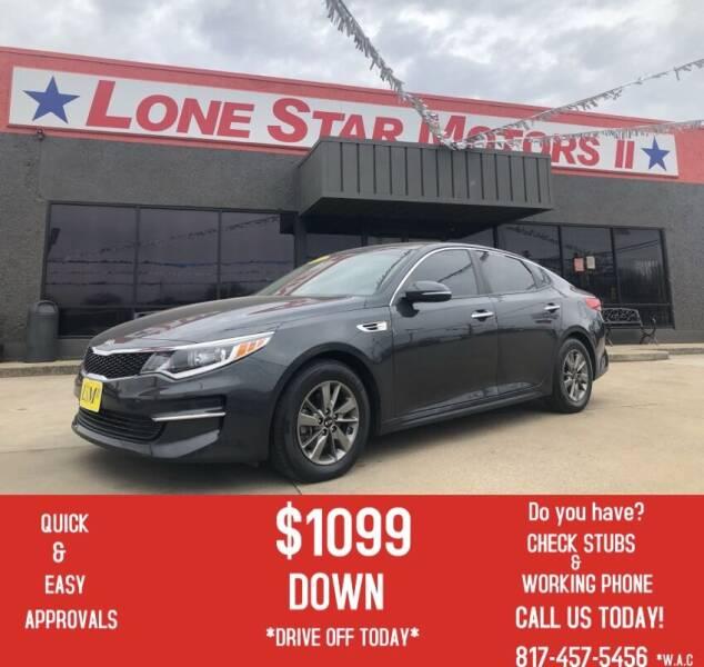 2016 Kia Optima for sale at LONE STAR MOTORS II in Fort Worth TX