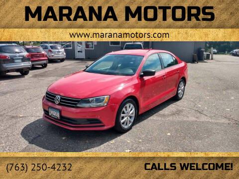2015 Volkswagen Jetta for sale at Marana Motors in Princeton MN