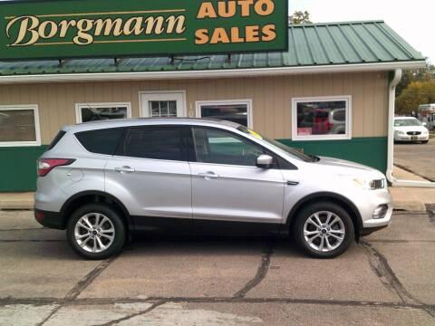 2017 Ford Escape for sale at Borgmann Auto Sales in Norfolk NE
