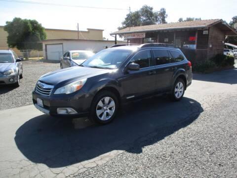 2011 Subaru Outback for sale at Manzanita Car Sales in Gridley CA