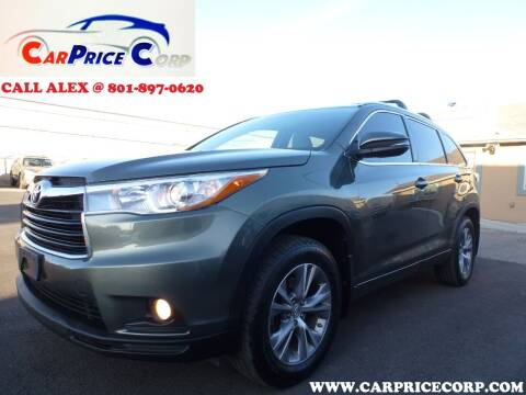 2015 Toyota Highlander for sale at CarPrice Corp in Murray UT