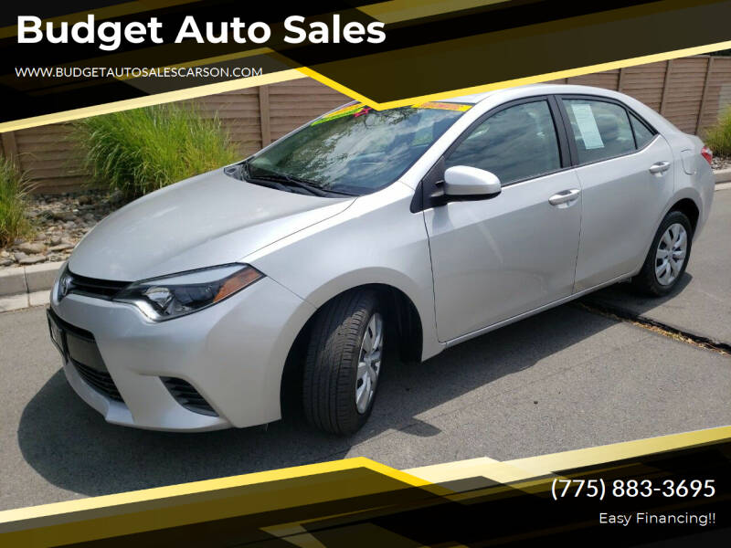 2015 Toyota Corolla for sale at Budget Auto Sales in Carson City NV