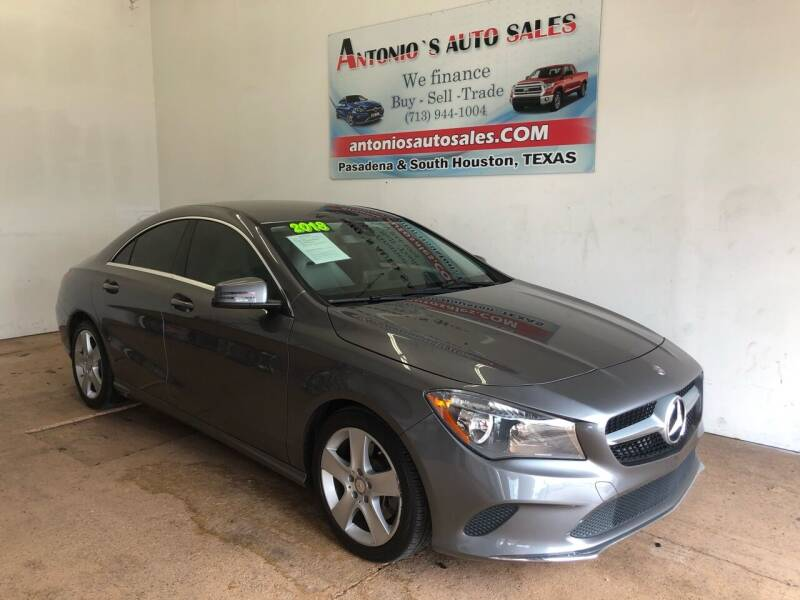 2018 Mercedes-Benz CLA for sale at Antonio's Auto Sales in South Houston TX