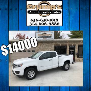 2015 Chevrolet Colorado for sale at CRUMP'S AUTO & TRAILER SALES in Crystal City MO