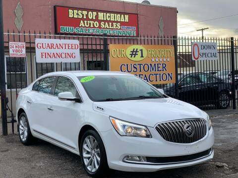 2016 Buick LaCrosse for sale at Best of Michigan Auto Sales in Detroit MI