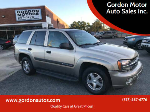 2004 Chevrolet TrailBlazer for sale at Gordon Motor Auto Sales Inc. in Norfolk VA