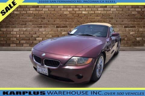 2004 BMW Z4 for sale at Karplus Warehouse in Pacoima CA