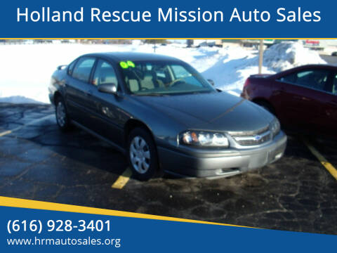 2004 Chevrolet Impala for sale at Holland Rescue Mission Auto Sales in Holland MI