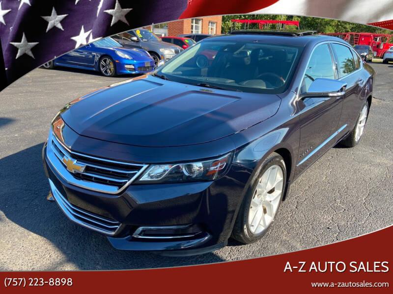2014 Chevrolet Impala for sale at A-Z Auto Sales in Newport News VA