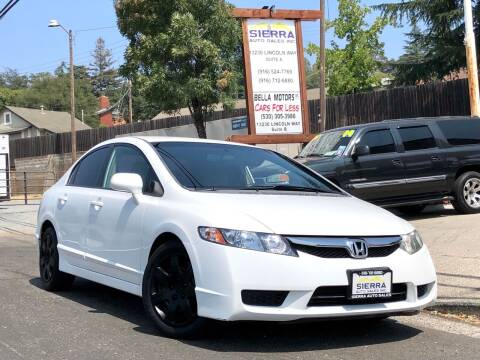 2009 Honda Civic for sale at Sierra Auto Sales Inc in Auburn CA