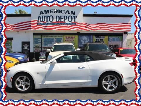 2018 Chevrolet Camaro for sale at American Auto Depot in Modesto CA