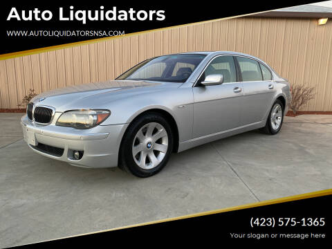 2007 BMW 7 Series for sale at Auto Liquidators in Bluff City TN