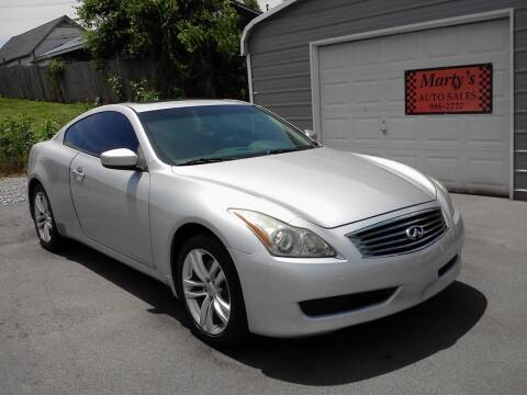 2010 Infiniti G37 Coupe for sale at Marty's Auto Sales in Lenoir City TN
