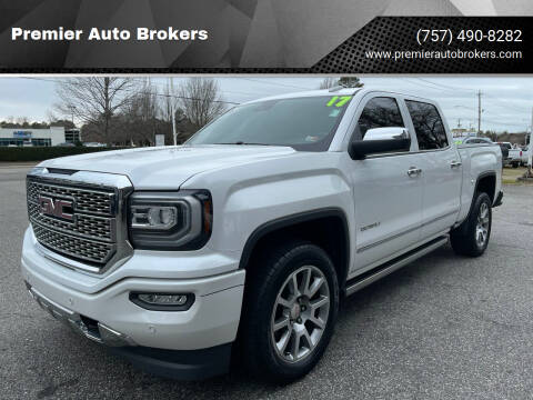 2017 GMC Sierra 1500 for sale at Premier Auto Brokers in Virginia Beach VA