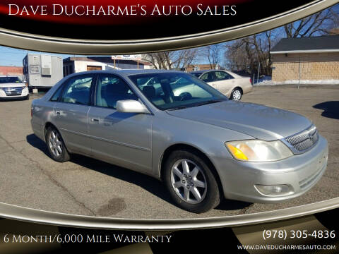 2001 Toyota Avalon for sale at Dave Ducharme's Auto Sales in Lowell MA