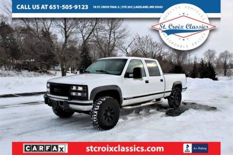 1999 GMC Sierra 2500 Classic for sale at St. Croix Classics in Lakeland MN