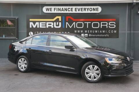 2017 Volkswagen Jetta for sale at Meru Motors in Hollywood FL