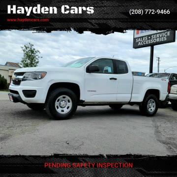 2017 Chevrolet Colorado for sale at Hayden Cars in Coeur D Alene ID