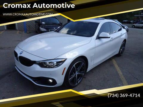 2019 BMW 4 Series for sale at Cromax Automotive in Ann Arbor MI