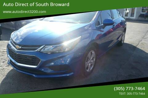 2017 Chevrolet Cruze for sale at Auto Direct of South Broward in Miramar FL