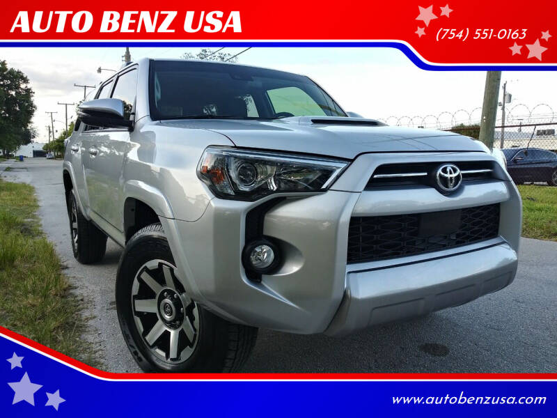 2020 Toyota 4Runner for sale at AUTO BENZ USA in Fort Lauderdale FL