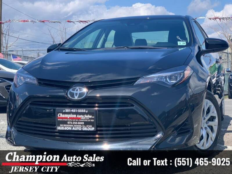 2018 Toyota Corolla for sale at CHAMPION AUTO SALES OF JERSEY CITY in Jersey City NJ