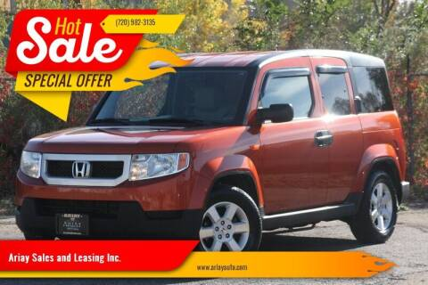 2011 Honda Element for sale at Ariay Sales and Leasing Inc. in Denver CO
